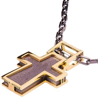 Solid 18k white gold cross pendant for men necklace black two tone solid 18k white gold cross pendant for men necklace black two tone steampunk chain aloadofball Gallery