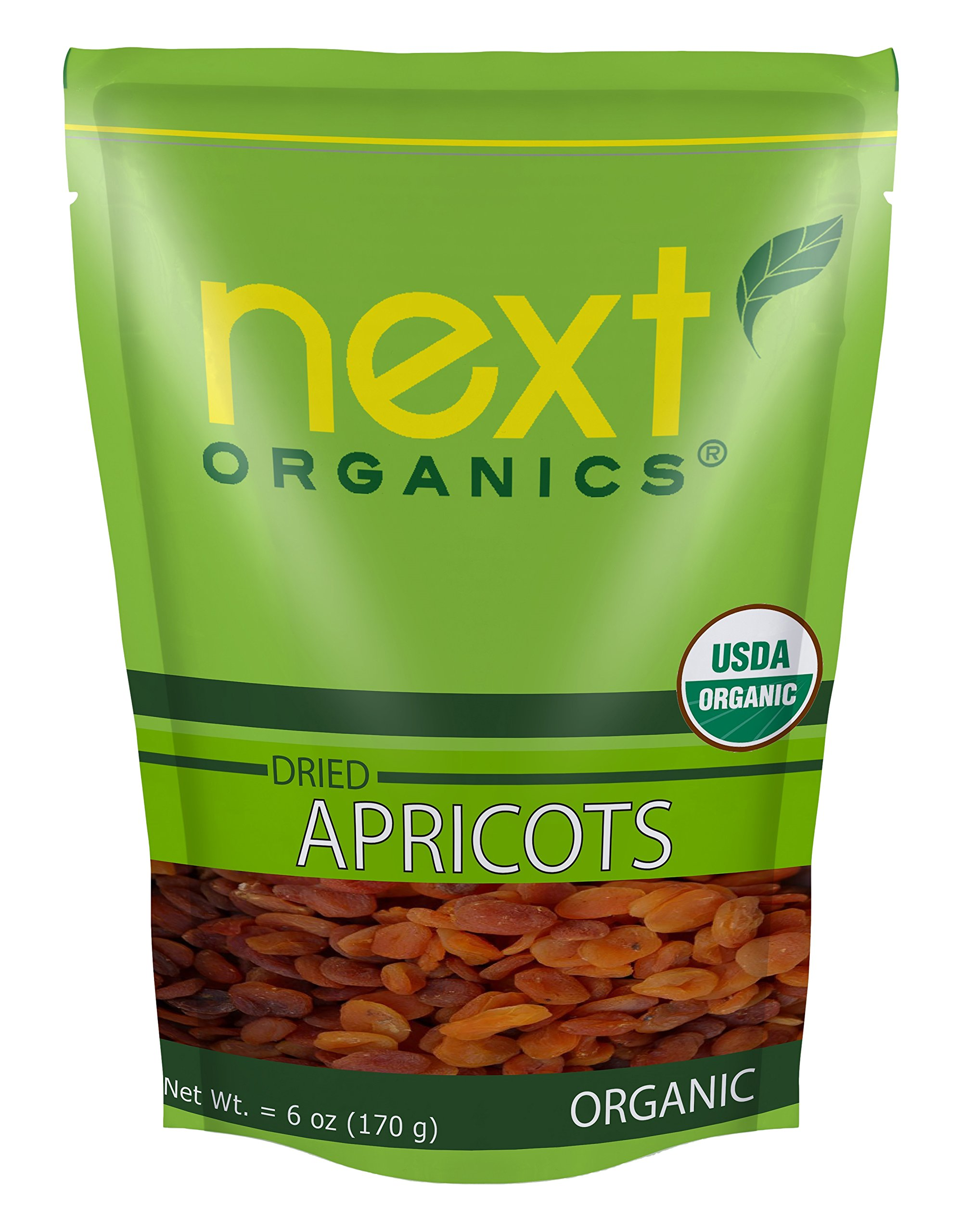 Next Organics Dried Apricot, 6 Ounce (Pack of 6)