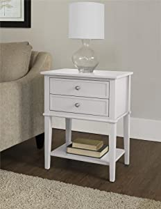 Ameriwood Home Franklin Accent Table with 2 Drawers, White