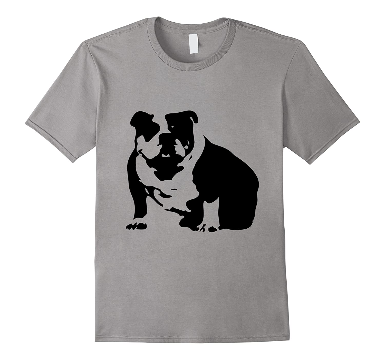 Abstract English Bulldog T-shirt - Dog lovers Tshirt-4LVS