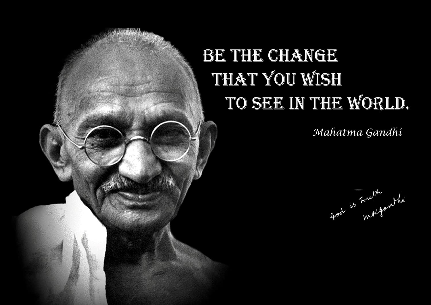 "Mahatma Gandhi motivational quote Truth Poster 24/""x 16/"""