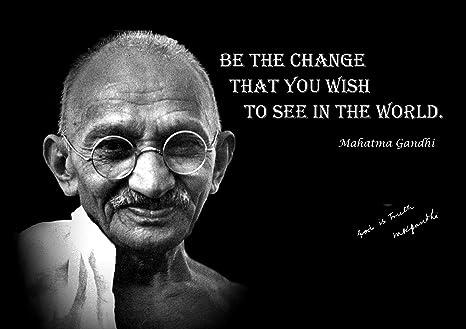 Amazonde Mahatma Gandhi Inspirierendes Zitat Life Poster Print