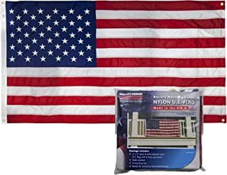 product image for Valley Forge, American Flag Kit, Nylon, 3'x5', 100% Made in USA, Balcony Mounting Kit, Heavy Duty Brass Grommets, Fasteners (Nylon)