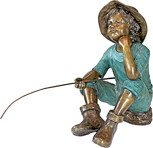 Design Toscano PN6961 Fish Wish Fisherboy Garden Statue