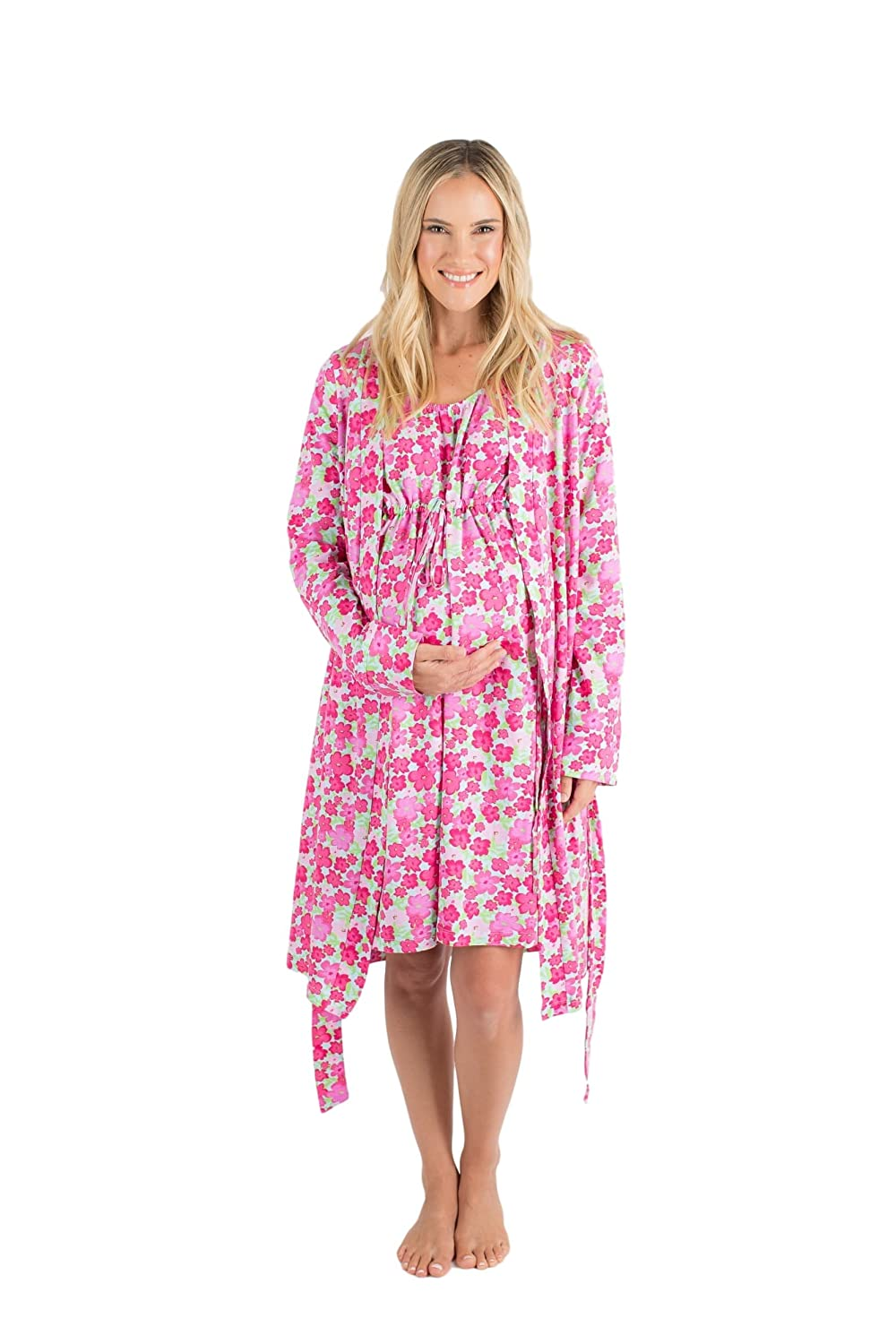 12f01c9f12 3 in 1 Maternity Labor Delivery Nursing Hospital Birthing Gown   Matching  Robe
