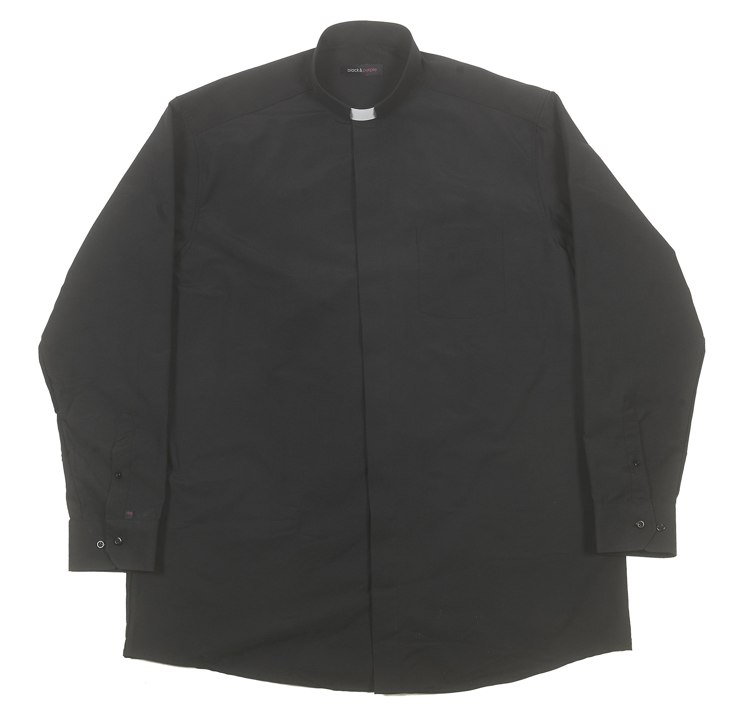 Liturgical Creations Mens Long Sleeve Single Pocket Clergy Shirt, 100% Cotton