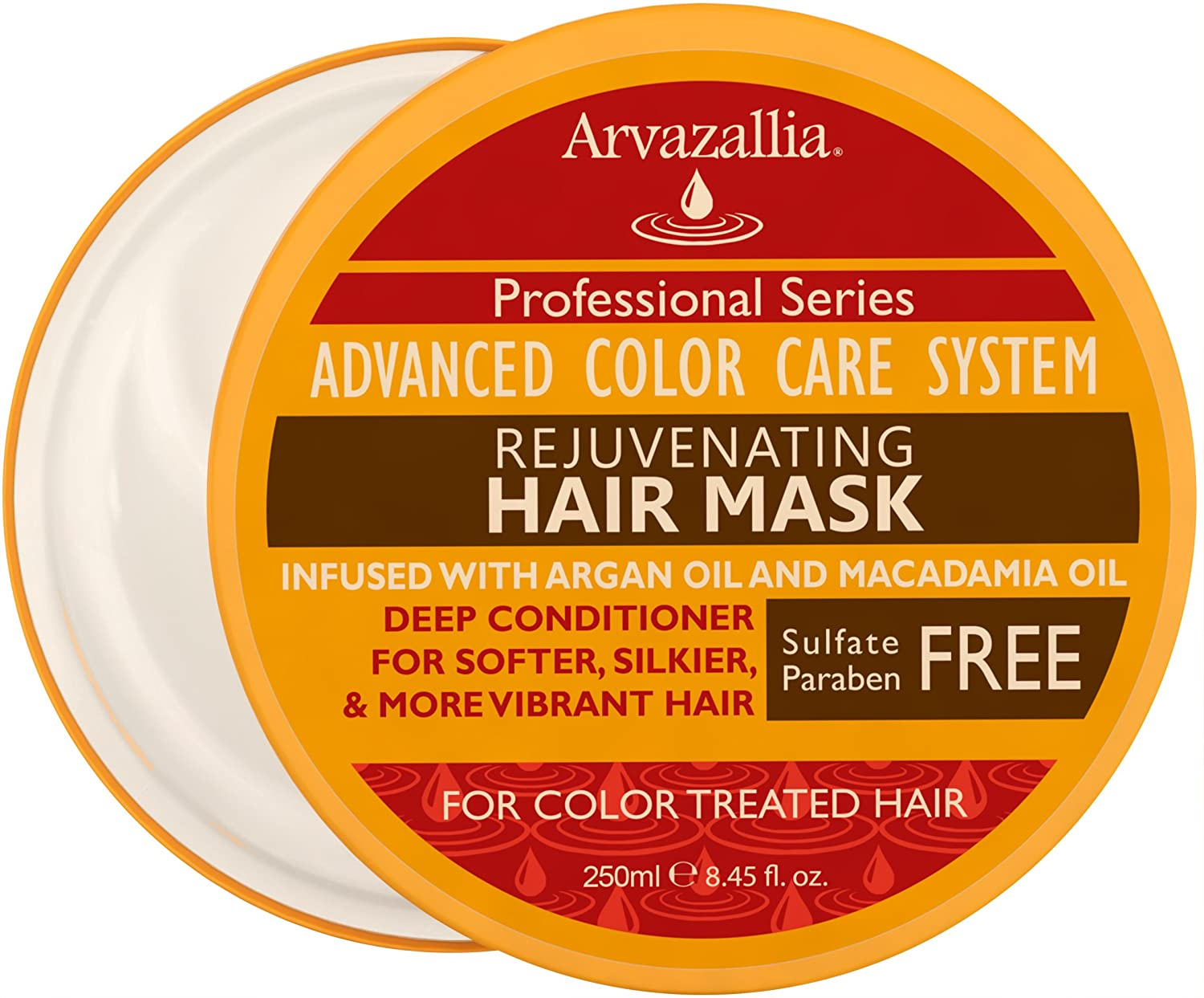Rejuvenating Hair Mask and Deep Conditioner For Color Treated Hair with Argan Oil and Macadamia Oil By Arvazallia - Sulfate Free & Paraben Free ACCS-MSK