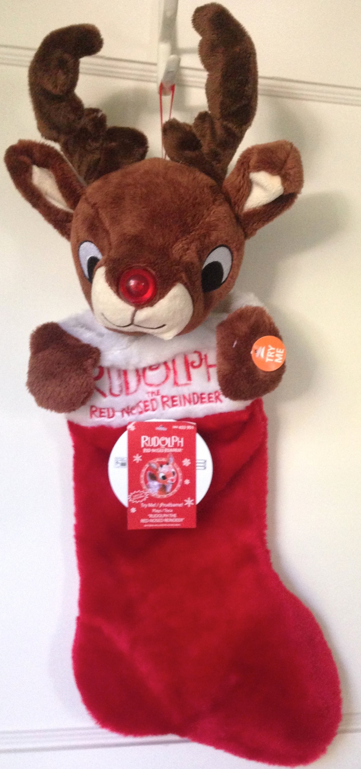 Rudolph The Red Nosed Reindeer Light Up Rudolph Plush Doll Plays Music New