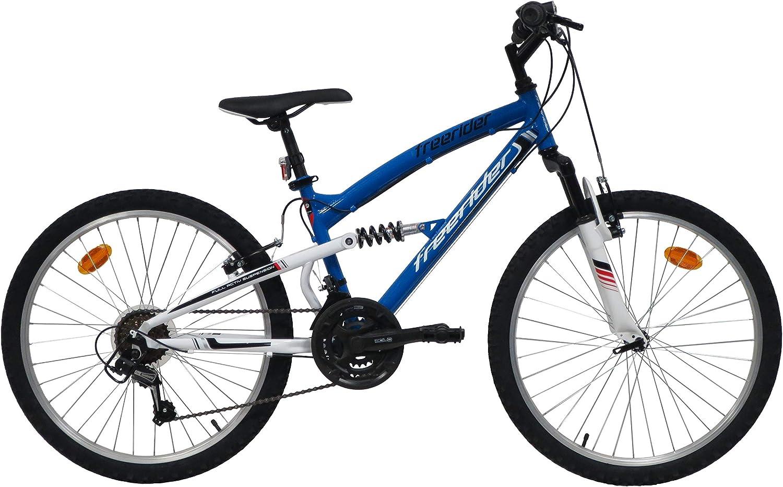 Freerider - Bicicleta de montaña de 24 pulgadas, 18 velocidades ...