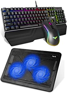 Havit Mechanical Keyboard Gaming Mouse and Laptop Cooling Pad for PC Gaming