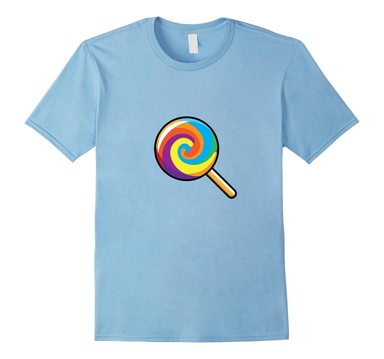 Lollipop Emoji T-Shirt Swirl Lolly Candy Sugar Store Stick-FL