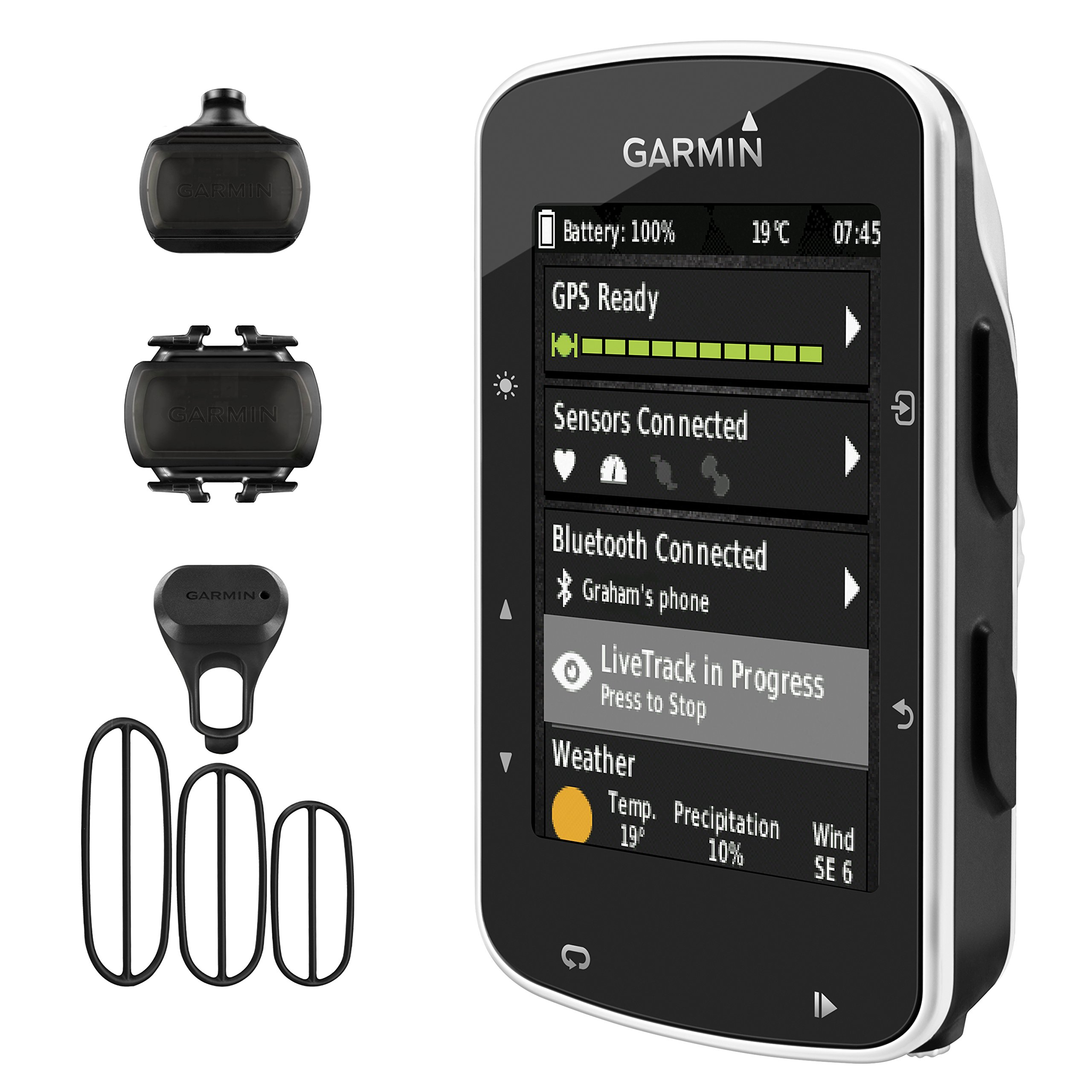 Garmin Edge 520 GPS Cycling Computer 010-01368-00 and Garmin Bike Speed Sensor and Cadence Sensor 010-12104-00 Bundle