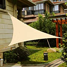 Shade&Beyond 9' x 9' x 9' Sand Color Triangle Sun Shade Sail, UV Block for Outdoor Facility and Activities
