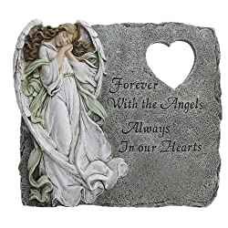 forever with the Angel Memorial Stepping stone