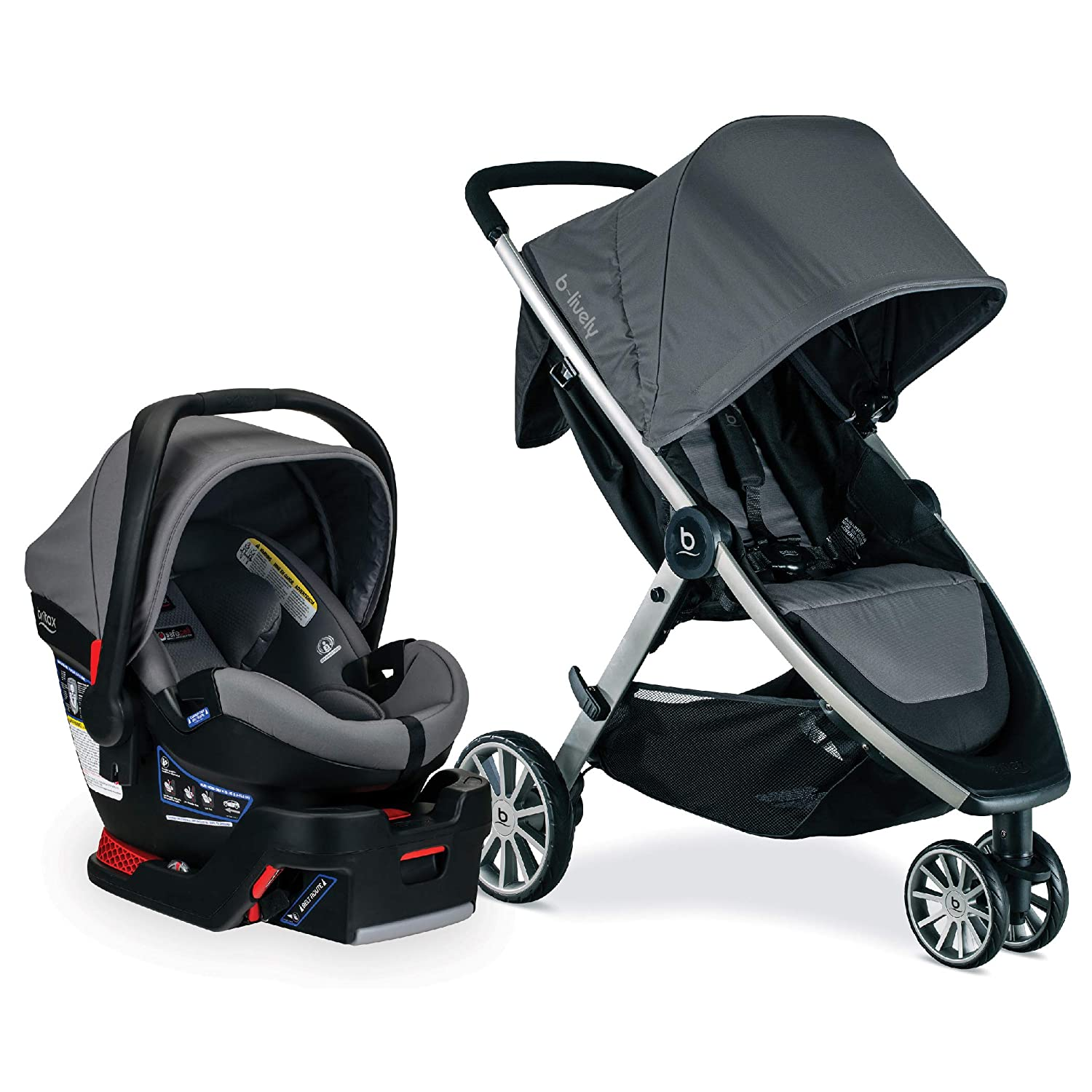 BRITAX B-Lively Travel System Stroller with B-Safe Ultra Infant Car Seat