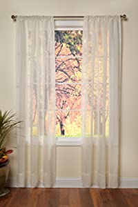 Cotton Craft - Genuine Pure 100% Linen Rod Pocket Window Panels - One Pair - Ivory 54x96. Hand Crafted & Hand Stitched Sheer Linen Panels - Generous 6 inch Hem - Truly Sophisticated Luxury