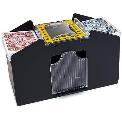 Jobar Easy Automatic 2 Deck Playing Card Shuffler Machine : Sports & Outdoors