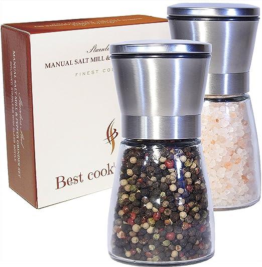 Molinillo de sal y pimienta Sinrextraonry molinillos ajustables molinillo manual sin montura ajustable 1 Pc