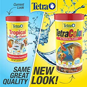 TetraColor Tropical Flakes with Natural Color Enhancer, 2.82-Ounce