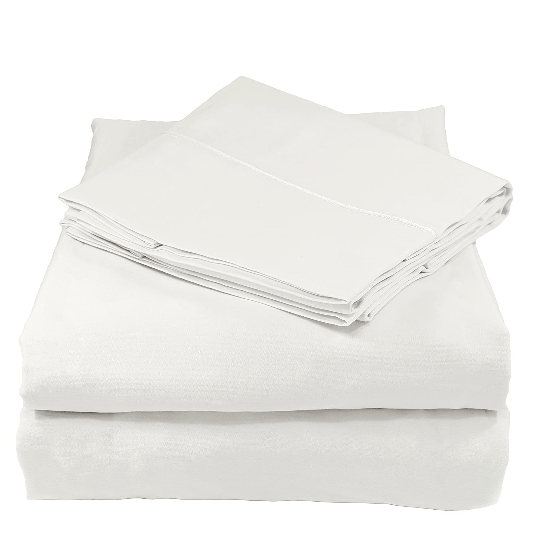 Amazon.com: Whisper Organics Bed Sheets, Organic 100% Cotton Sheet Set, 500  Thread Count, 3 Piece: Fitted Sheet, Flat Sheet, Pillowcase, Twin XL, ...