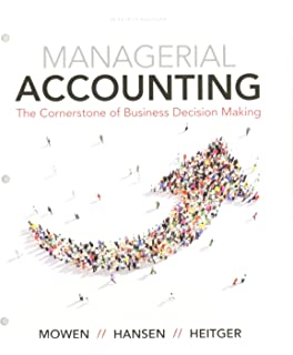 Managerial accounting the cornerstone of business decision making bundle managerial accounting the cornerstone of business decision making loose leaf fandeluxe Images