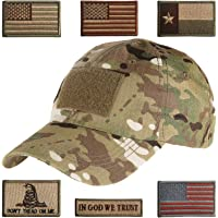 e380f43294cee Lightbird Tactical Hat with 6 Pieces Tactical Military Patches