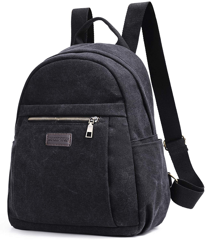 Unisex Canvas Backpack College School Backpack Rucksack Casual Travel Backpack Laptop Backpack