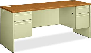 product image for HON Credenza with Kneespace, 72 by 24 by 29-1/2-Inch, Harvest/Putty