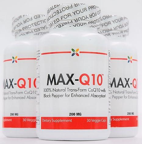 Amazon.com: max-q10 | 200 mg de bio-indenticle, trans-form ...
