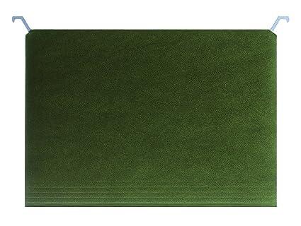 amazonbasics hanging file folders - letter size green 25-pack