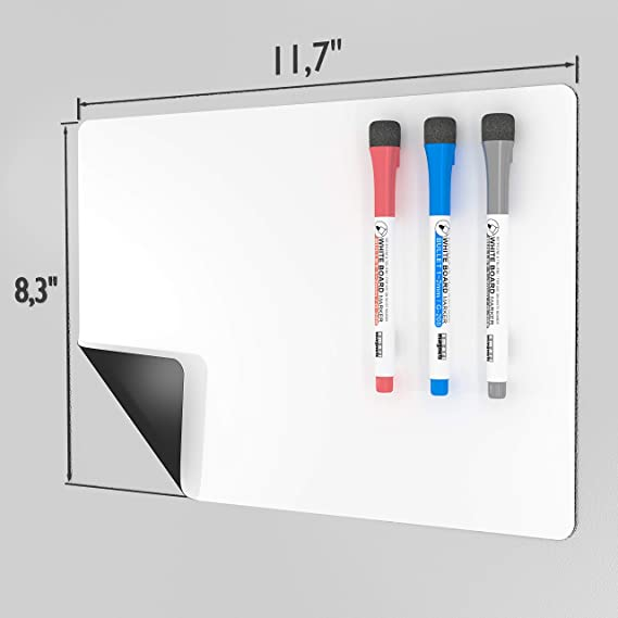 Amazon.com: Thin Magnetic Dry Erase Board for Refrigerator ...