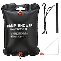 Bramble Ducha de Camping Solar Negra. hasta 20 litros de Capacidad, Perfecta para Senderismo y Viajes con Mochila. Ligera y compacta