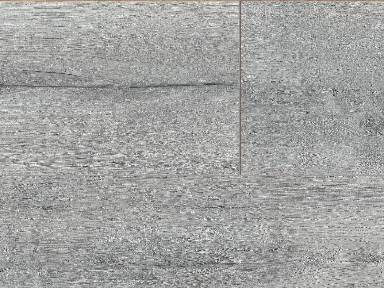 2,4qm Eiche Laminat Bodenbelag Oak avalon ✓schnelle klick Montage ✓klassisch /& authentisch ✓f/ür zeitloses /& modernes Wohnen grauer Klicklaminat 8mm Kaindl Klick Laminat grau