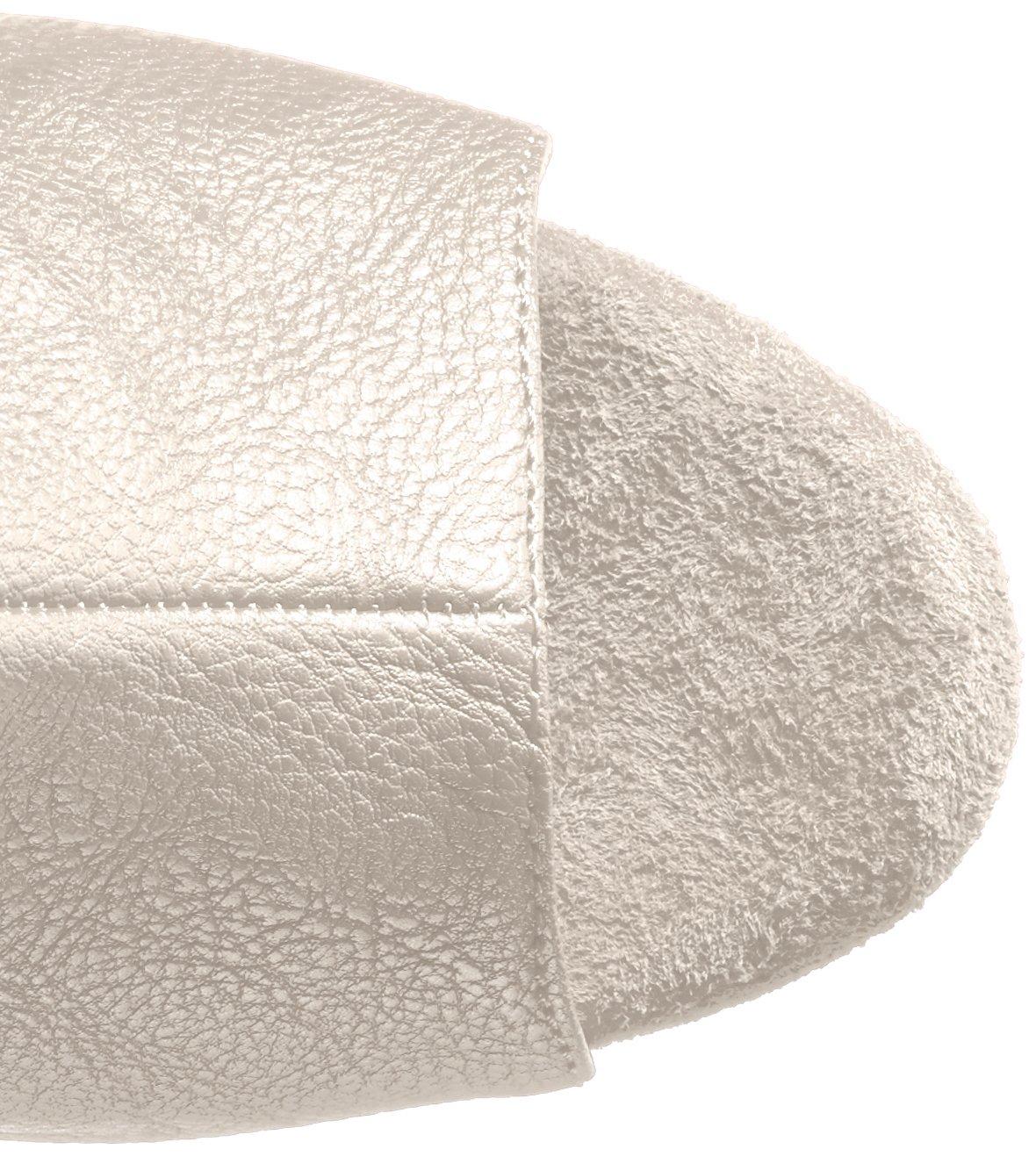 Pleaser Women's Illusion-3019 Over The Knee Boot B01ABTBHSS 10 B(M) US|White Polyurethane/Slv Chrome