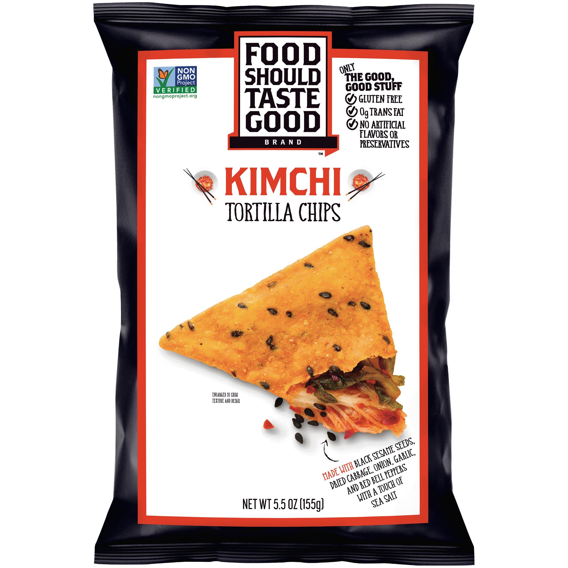 FOOD SHOULD TASTE GOOD CHIP TORTLA KIMCHI 5.5OZ