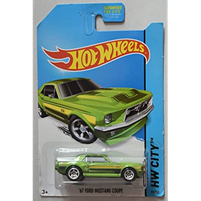 Hot Wheels City Series, Green '67 Ford Mustang Coupe 93/250: Toys & Games