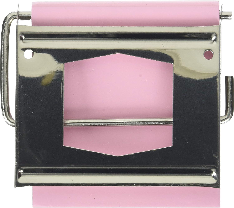 MDF MSV 140401 Porte Rouleau Papier WC Rose et INOX