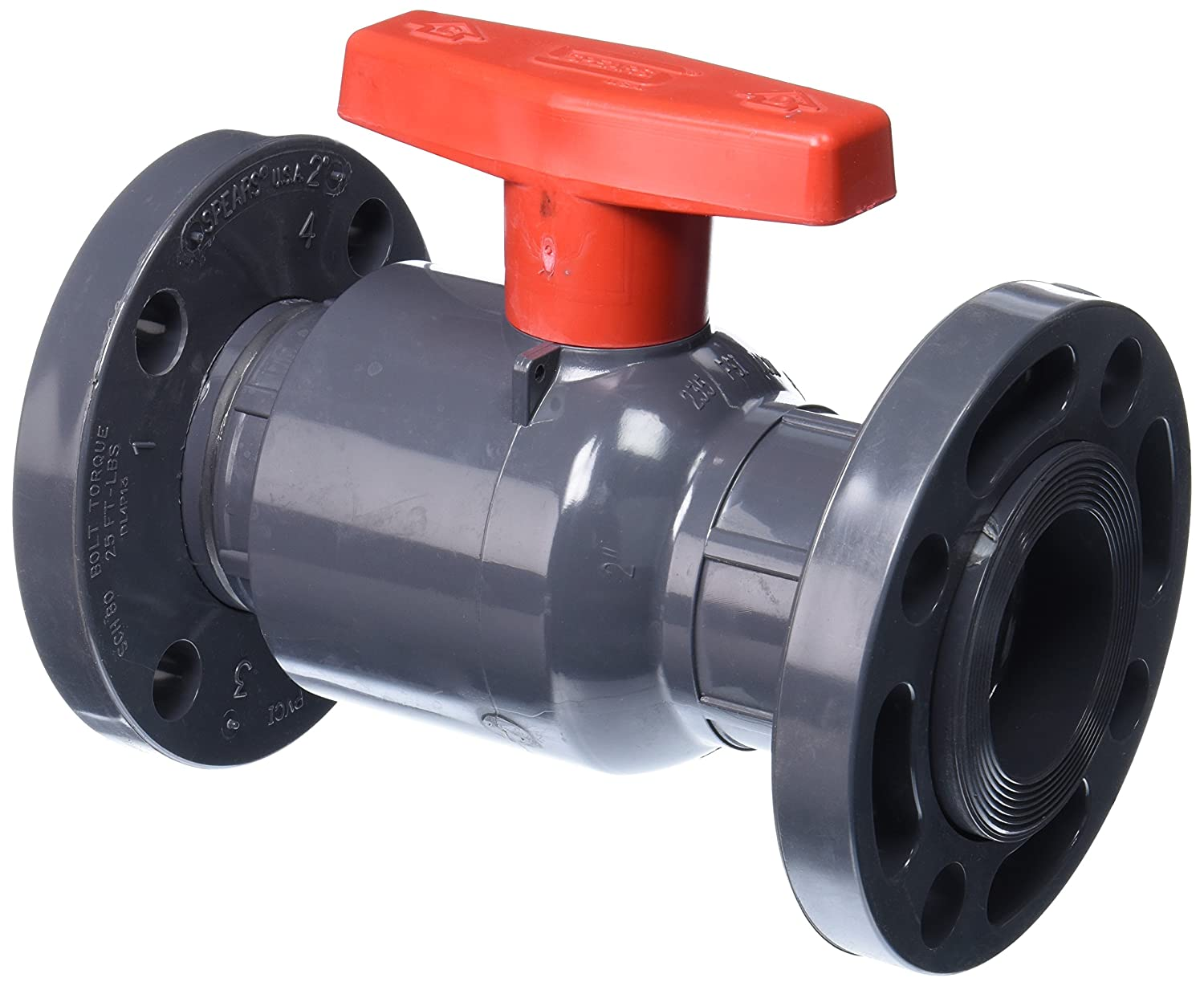 Spears 2123-020 PVC Schedule 80 Compact Ball Valves
