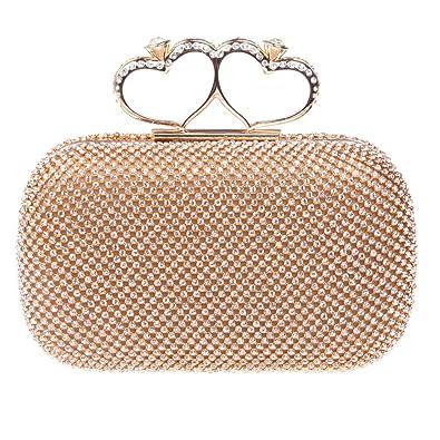 8073b9924 Fawziya Bling Heart Ring Clutch Purse Rhinestone Clutch Evening Bag-Gold