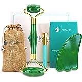 Original Jade Roller & Gua Sha Facial Tools, Real Jade Roller for Face - Face Roller, Natural Skin Care Tools - Face Massager