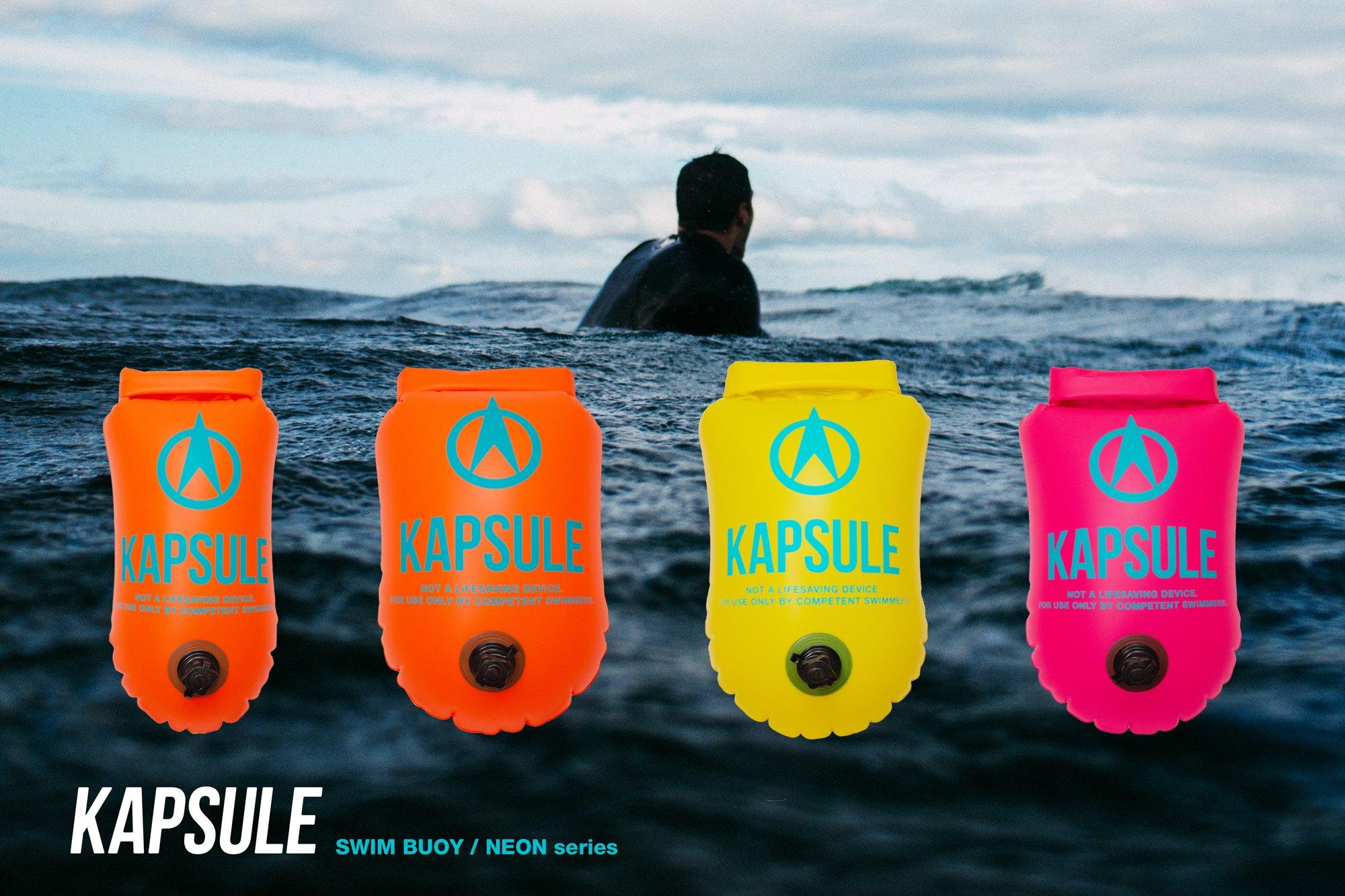 KAPSULE Swim Buoy (NEON 20L Orange) - Personal Swimming Float and Dry Bag by KAPSULE (Image #3)