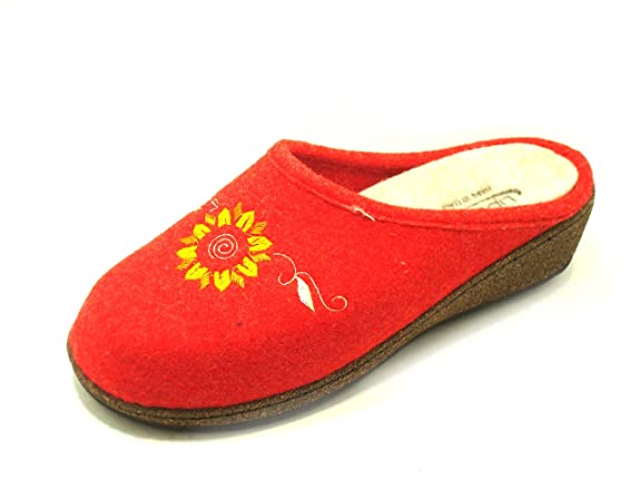 DAVEMA Mujer Ciabatta Lipwalk Art 5047 Plantare Estraibile Zapatillas Bajas rojo Size: 39 pAq2rNl