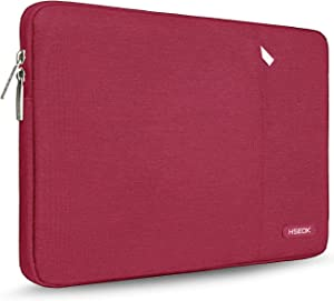 HSEOK 15.6-Inch Laptop Case Sleeve, Spill-Resistant Case for 15.4-Inch MacBook Pro 2012 A1286, MacBook Pro Retina 2012-2015 A1398 and Most 15.6-Inch Laptop, Wine red