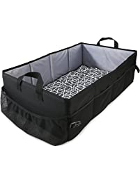 Reste Baby Travel Bed - Sized for Infant Kids - Travel Size Bed is Foldable and Portable and Includes Carrying Bag, Black...
