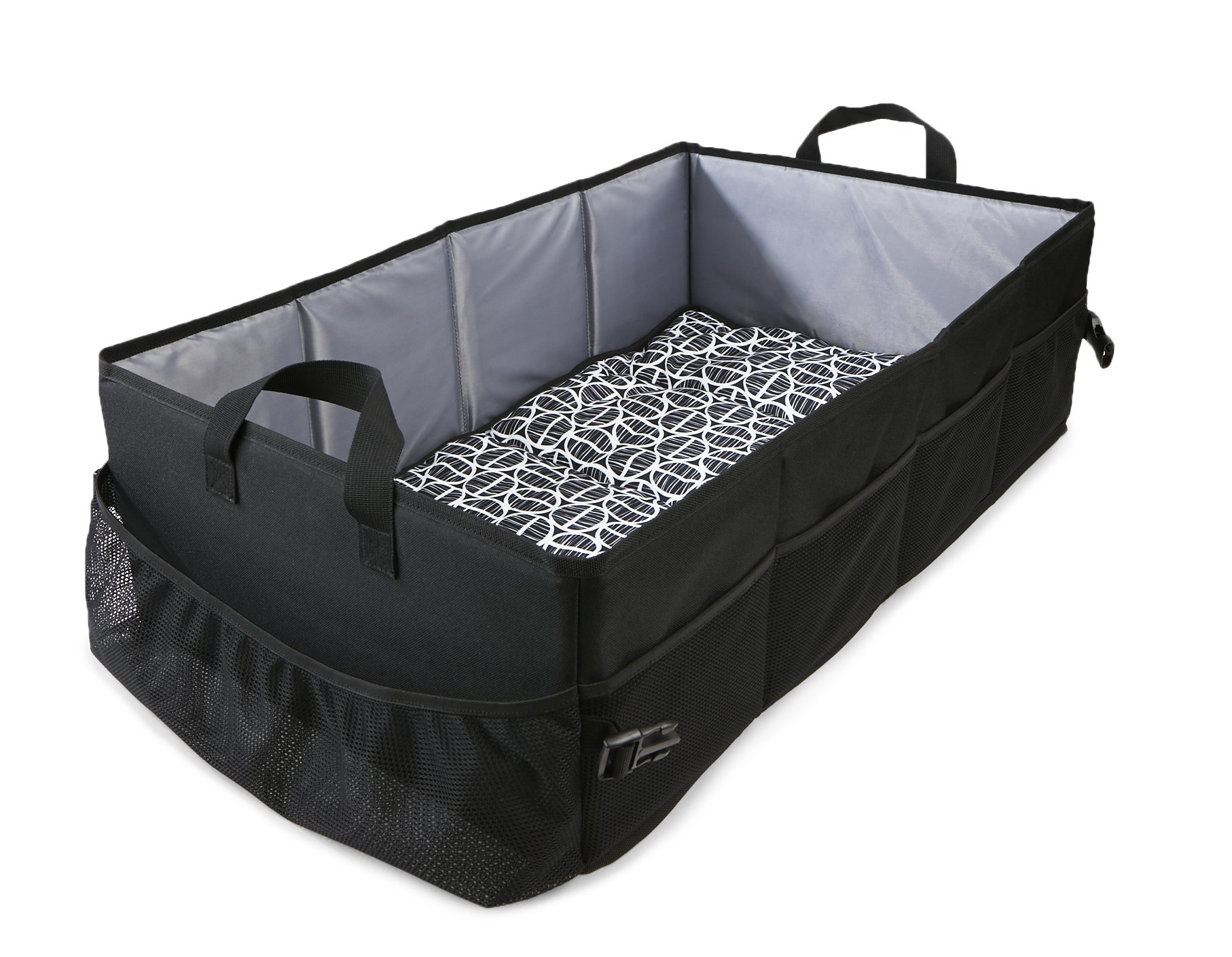 Reste Kids & Baby Travel Bed - Sized for Toddlers, Infants, and Kids - Youth Travel Size Bed is Foldable and Portable and Includes Carrying Bag, Black and Grey