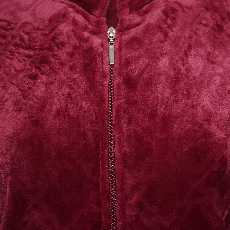 Ladies Christmas Woodland Soft Fleece Dressing Gown Sizes S M L White// Grey
