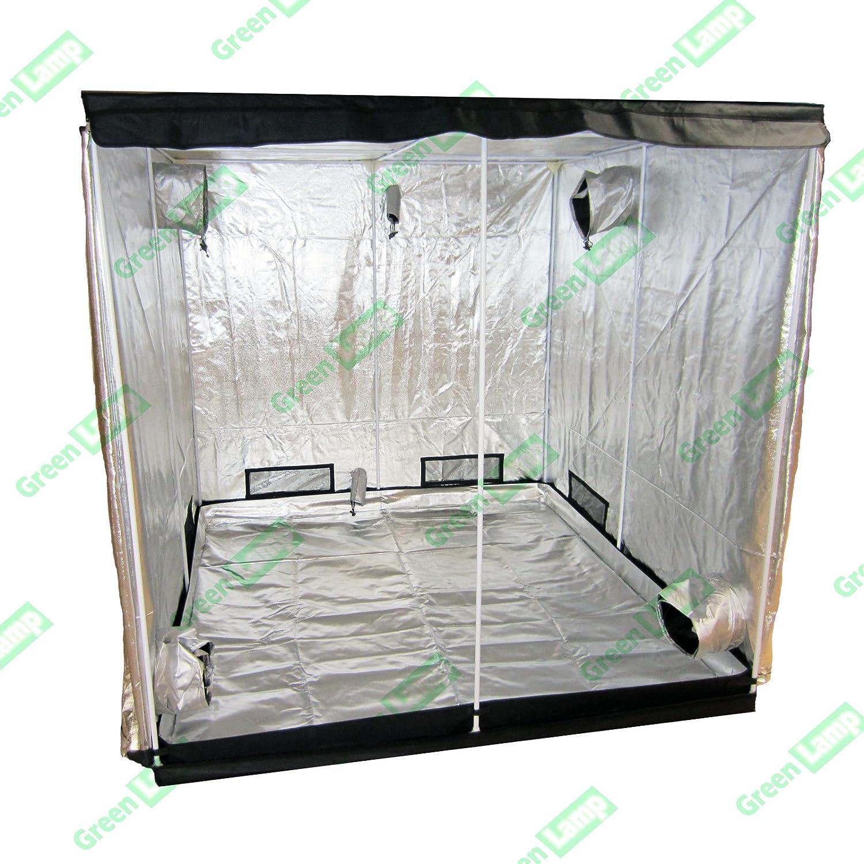 Green Lamp Premium 240 x 120 x 200cm 600D Mylar Indoor Grow Tent Box Hydroponics Dark Room