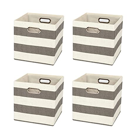 posprica collapsible cube cube bins boxes basket containers drawers for