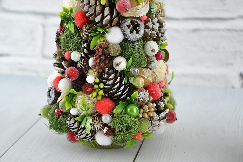 Table Holiday Decor Small Xmas Tree Cones Home Decor Rustic Boho Christmas Decorations