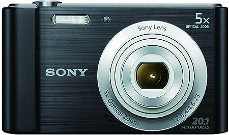 Sony DSC W800 20.1 MP Point and Shoot Digital Camera with 5X Optical Zoom  Black  Point   Shoot Digital Cameras